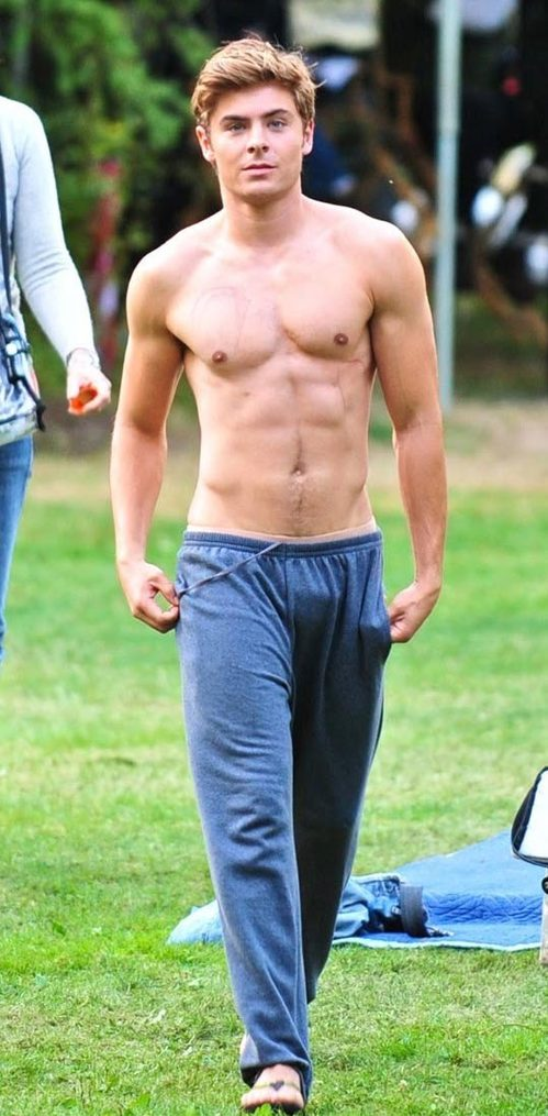 Zac Efron Is Walking Around In Tight Sweatpants On The Set Of High