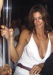 Cindy Crawford stripper pole dancing