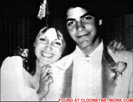 young George Clooney prom