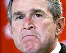 George Bush pissed angry mad