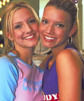 Jessica and Ashley Simpson young