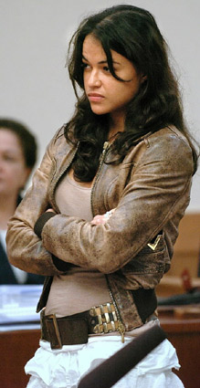 Michelle Rodriguez in court