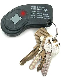 portable radiation detector keychain