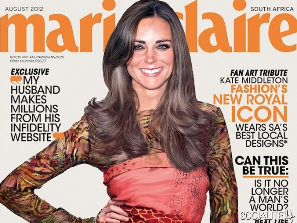 OMG, gossip: Kate Middleton's first ladymag cover is out