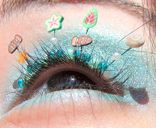eye;ash--Fish in the Sea Eyelash Jewelry - false eyelashes with real seashells and faux pearls.jpg