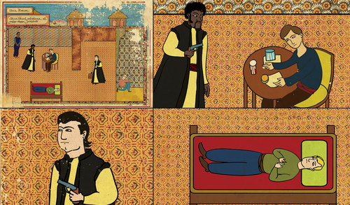 classic-movies-in-turkish-miniatures-posters-and-super-heroes-as-hieroglyphics-by-murat-palta-and-josh-lane-7-pulp-fiction.jpg