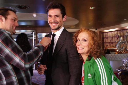 David Gandy - backstage at Ab Fab 2012 Sport Relief.jpg