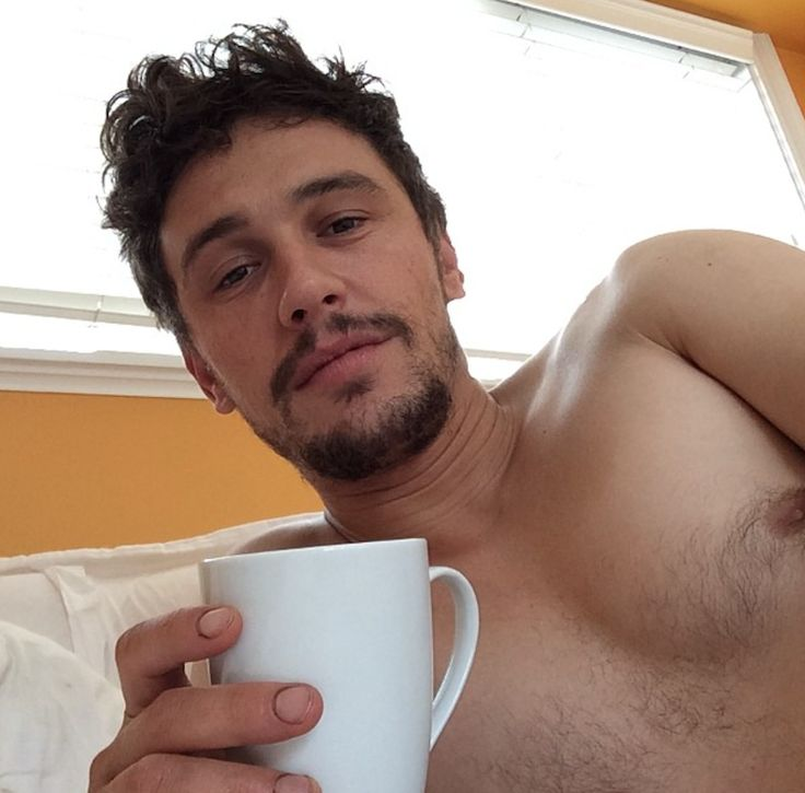 James Franco nipple with coffee cup