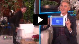 Zac Efron twerking on Ellen