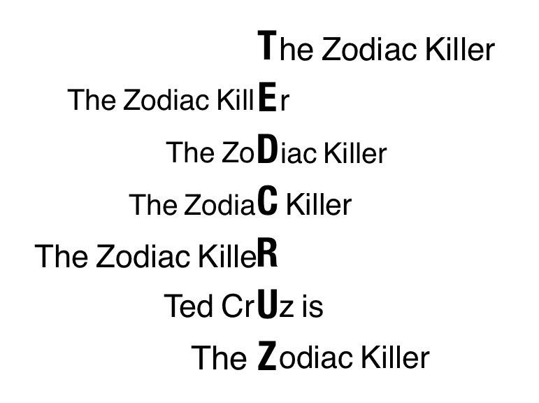 The help essay zodiac killer