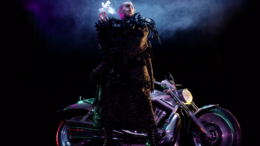 Marc Jacobs with motorcycle