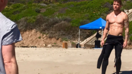 Shirtless Ryan Phillippe Surfing