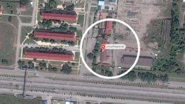 Secret prison in Argun, Chechnya, Russia