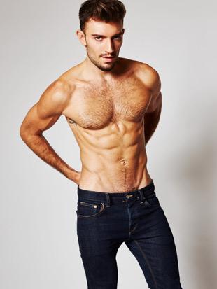 Jared North shirtless