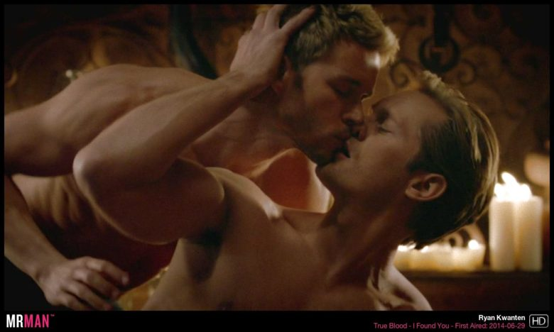 Alexander Skarsgard and Ryan Kwanten gay sex scene True Blood