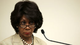 Maxine Waters stern look glasses