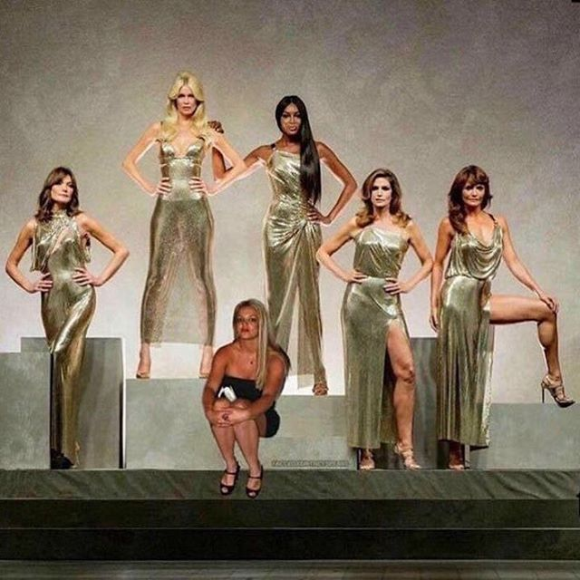 Neyde Spears Versace supermodels