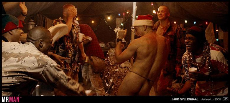 Jake Gyllenhaal sexy Santa Jarhead