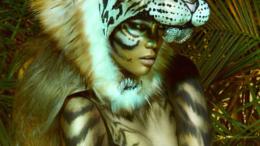 Tyra Banks tiger costume