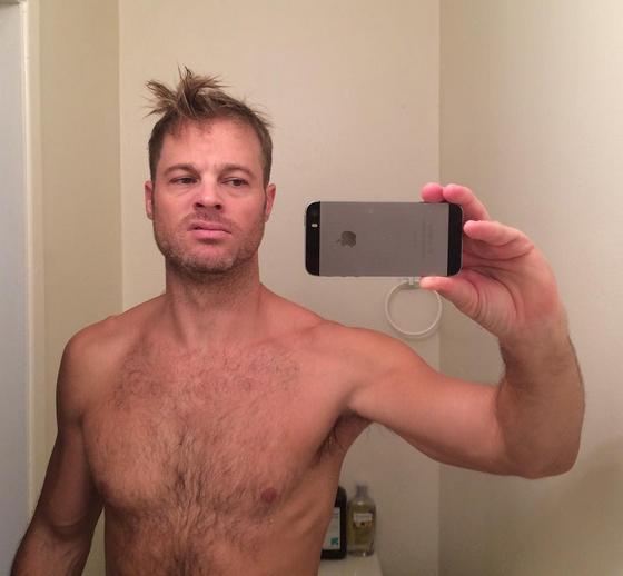 George Stults shirtless selfie