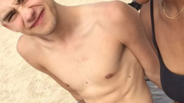 Singer Olly Alexander in a Speedo