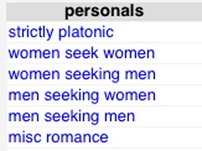 Gay personals like craigslist