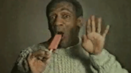 Bill Cosby eats a JELL-O pudding pop