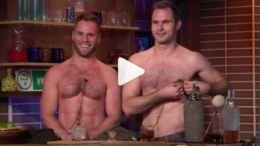 Matt and Dan shirtless on Andy Cohen