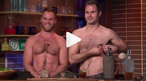 Matt and Dan shirtless on Andy Cohen