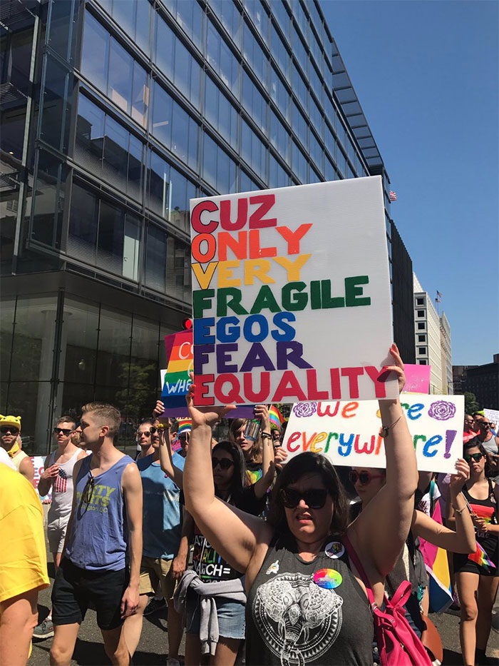 Gay pride signs