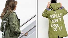 Melania Trump I Really Don't Care coat
