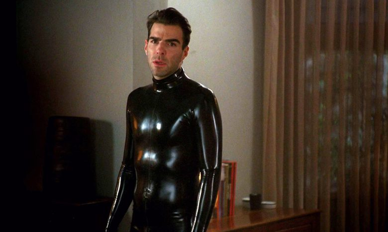 Zachary Quinto in latex