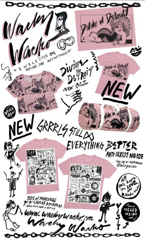 Wacky Wacko Divine newsletter