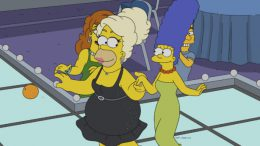 Homer Simpson in drag