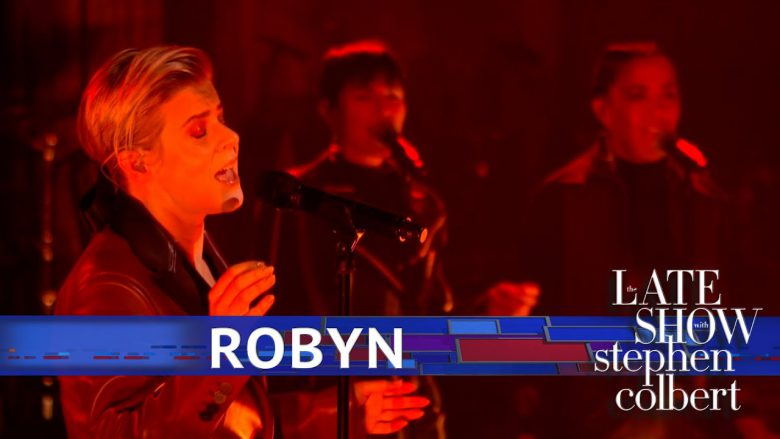 OMG, WATCH: Robyn performs 'Ever Again' on Colbert