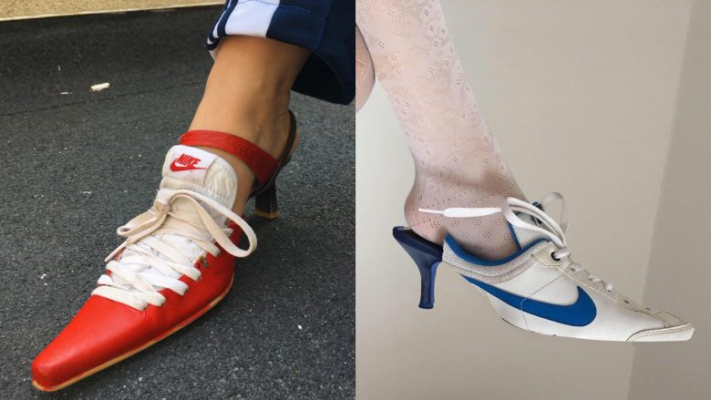 OMG, it's called fashun, LOOK IT UP! Ancuta Sarca's Up Cycle Nike shoes