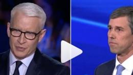 Anderson Cooper and Beto O'Rourke