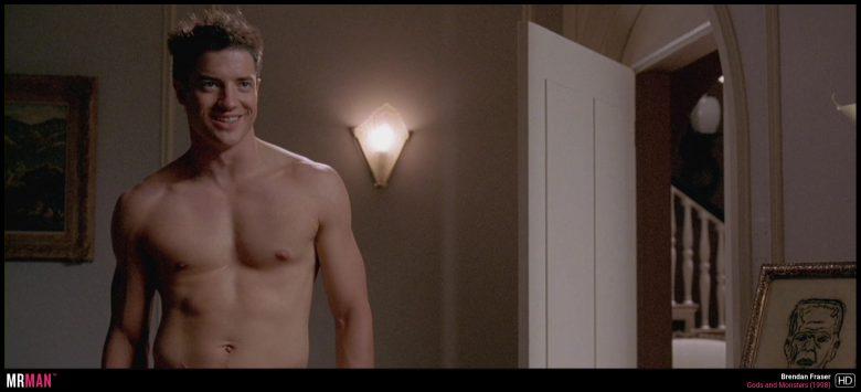 Brendan Fraser shirtless