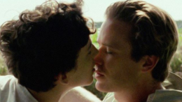 Timothee Chalamet and Armie Hammer kiss