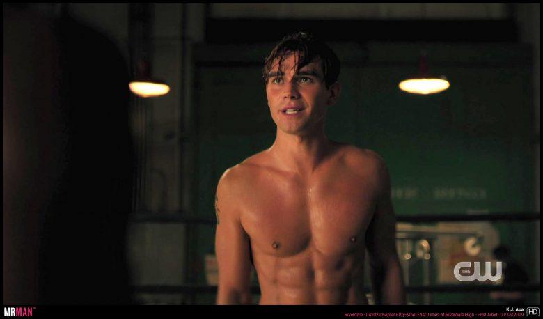 KJ Apa shirtless Riverdale